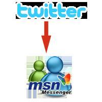 Twitter to MSN