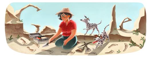 Mary Leakey - Google Doodle zum 100. Geburtstag!