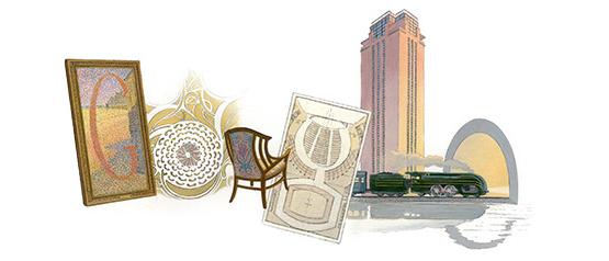 Henry van de Velde - Google Doodle zum 150. Geburtstag